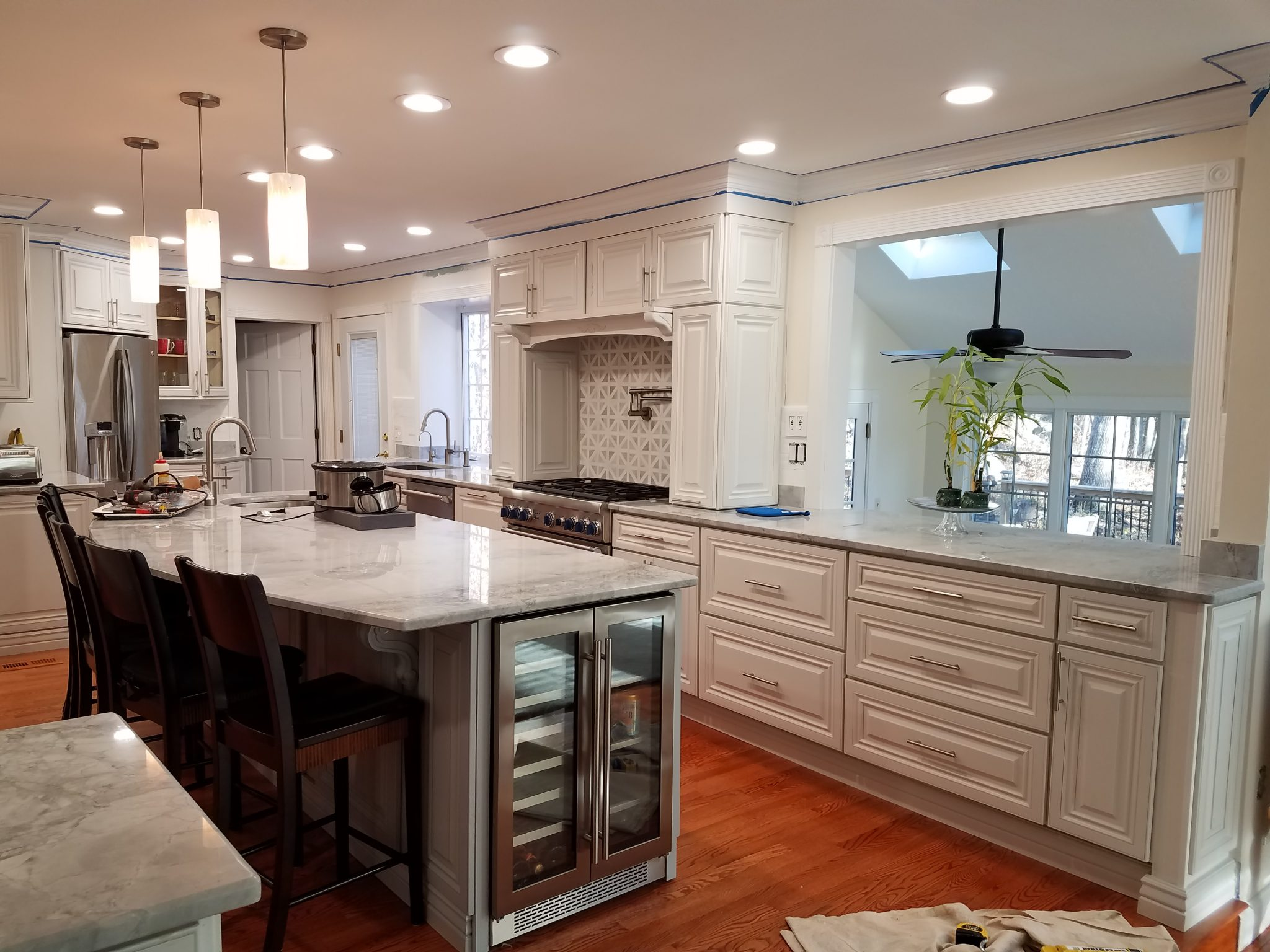 Custom 65k Kitchen Remodel White Raise Panel
